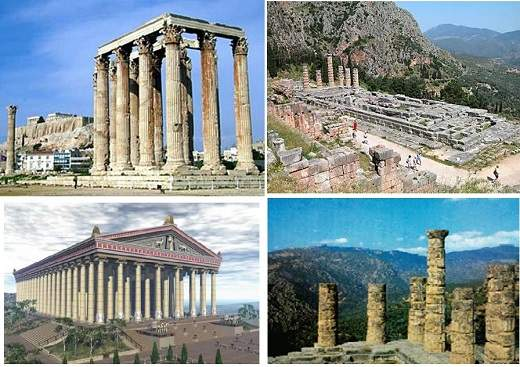 پاورپوینت بررسی شش مورد از بناهای معروف یونان
